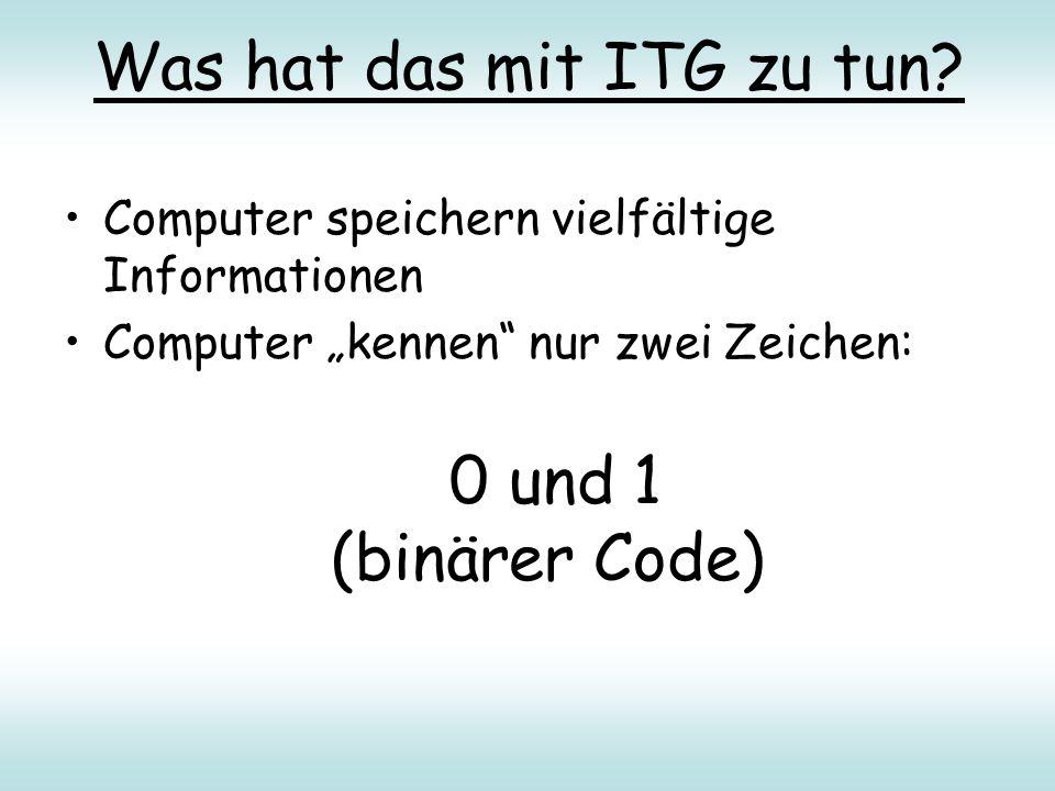 Was hat das mit ITG zu tun