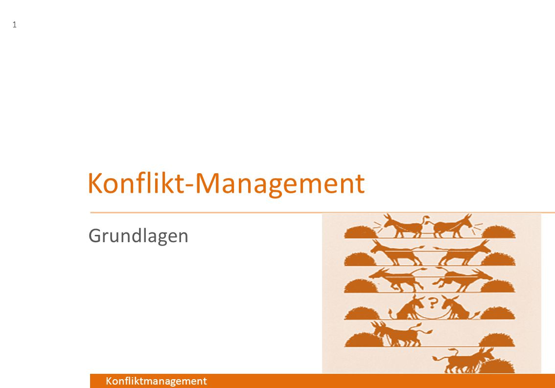 Konflikt-Management Grundlagen