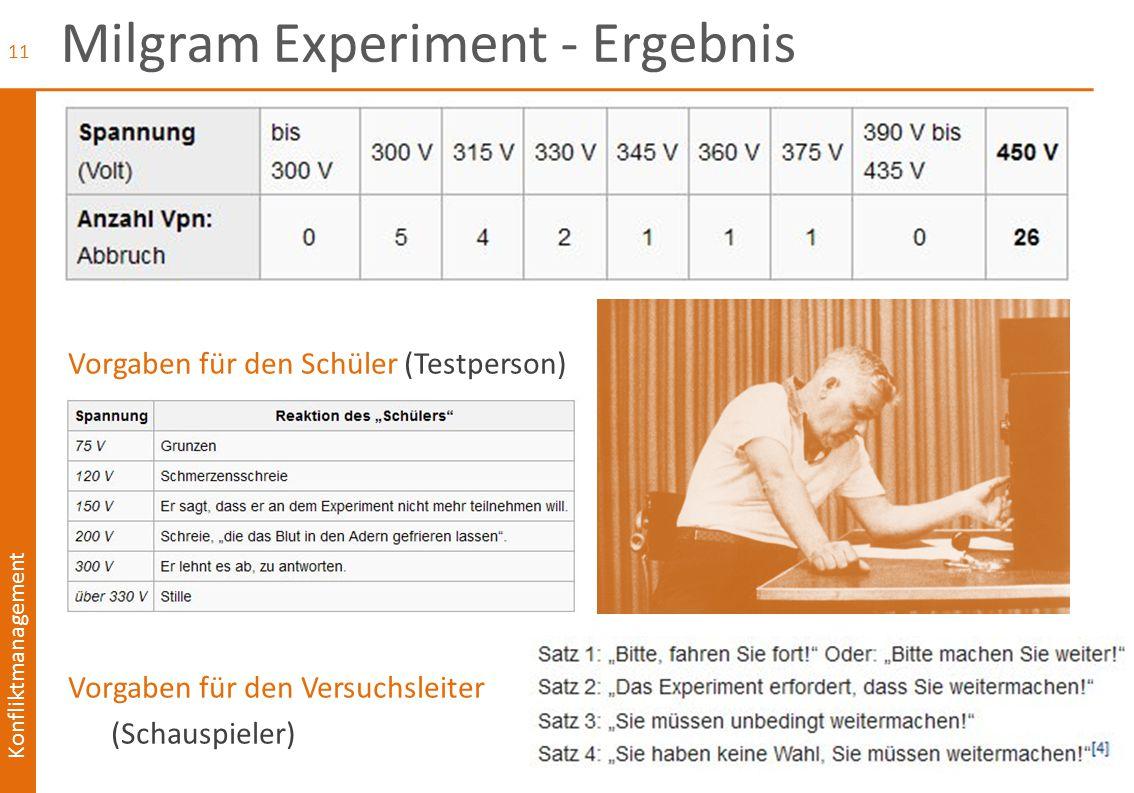Milgram Experiment - Ergebnis