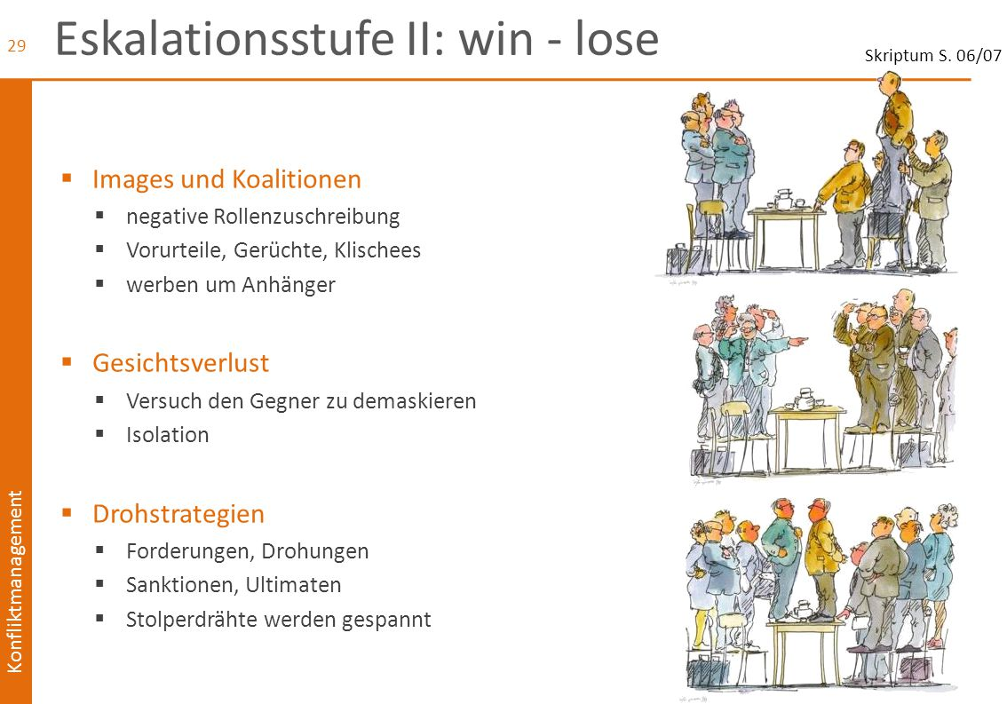 Eskalationsstufe II: win - lose