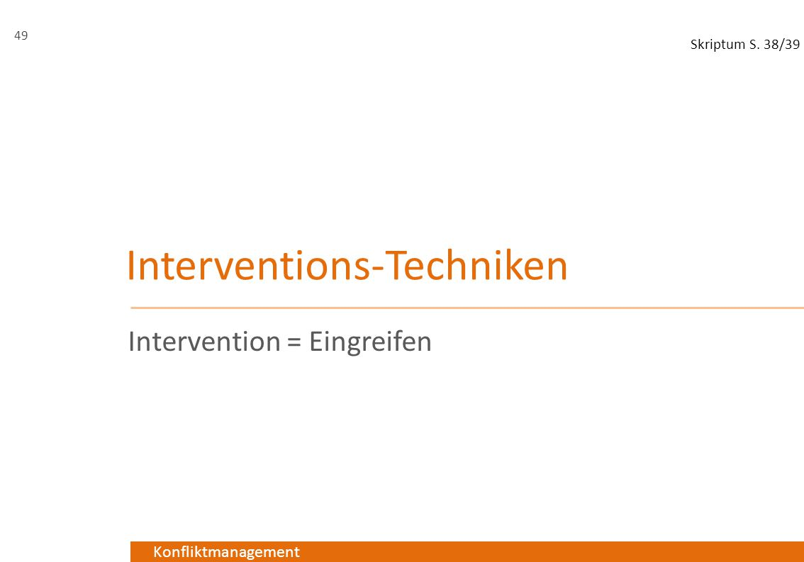 Interventions-Techniken