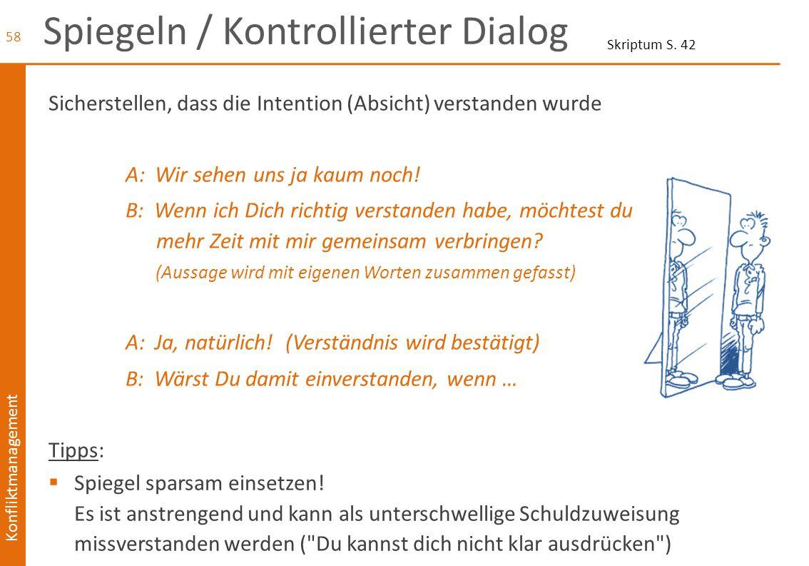 Spiegeln / Kontrollierter Dialog