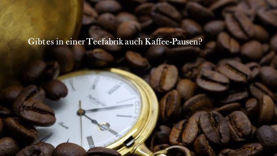 Gibt es in einer Teefabrik auch Kaffee-Pausen