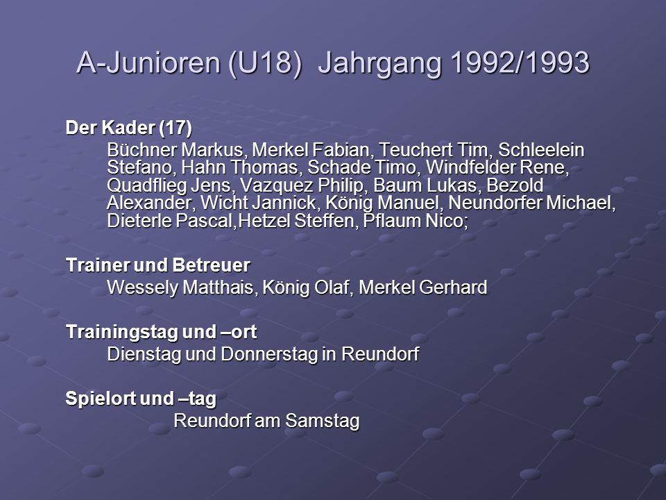 A-Junioren (U18) Jahrgang 1992/1993