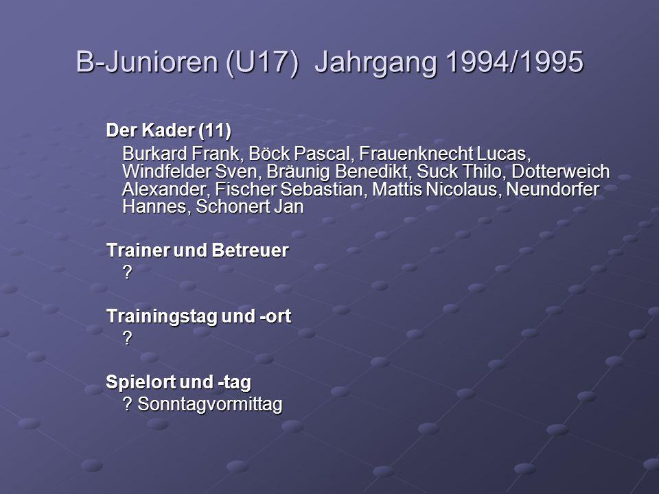 B-Junioren (U17) Jahrgang 1994/1995