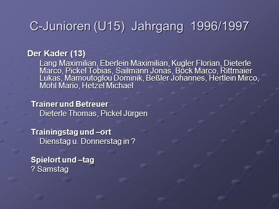 C-Junioren (U15) Jahrgang 1996/1997