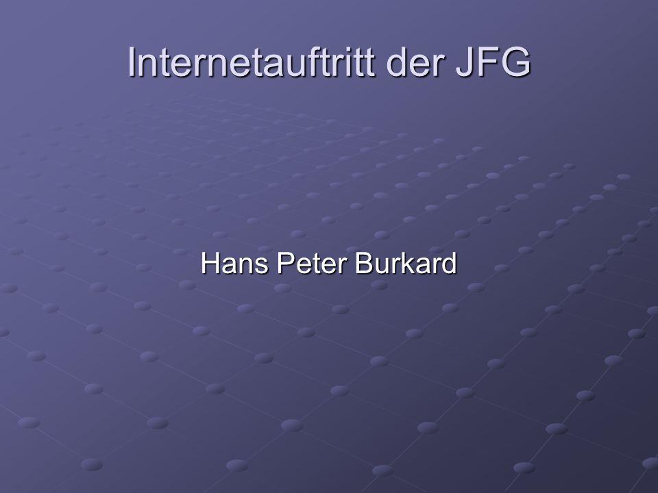 Internetauftritt der JFG