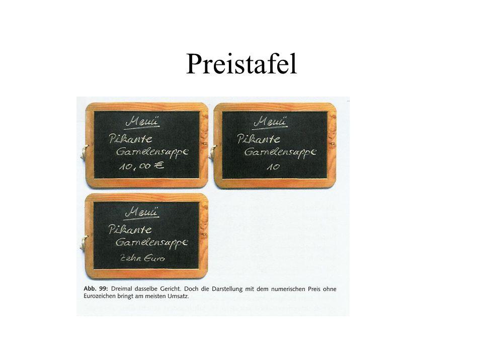 Preistafel