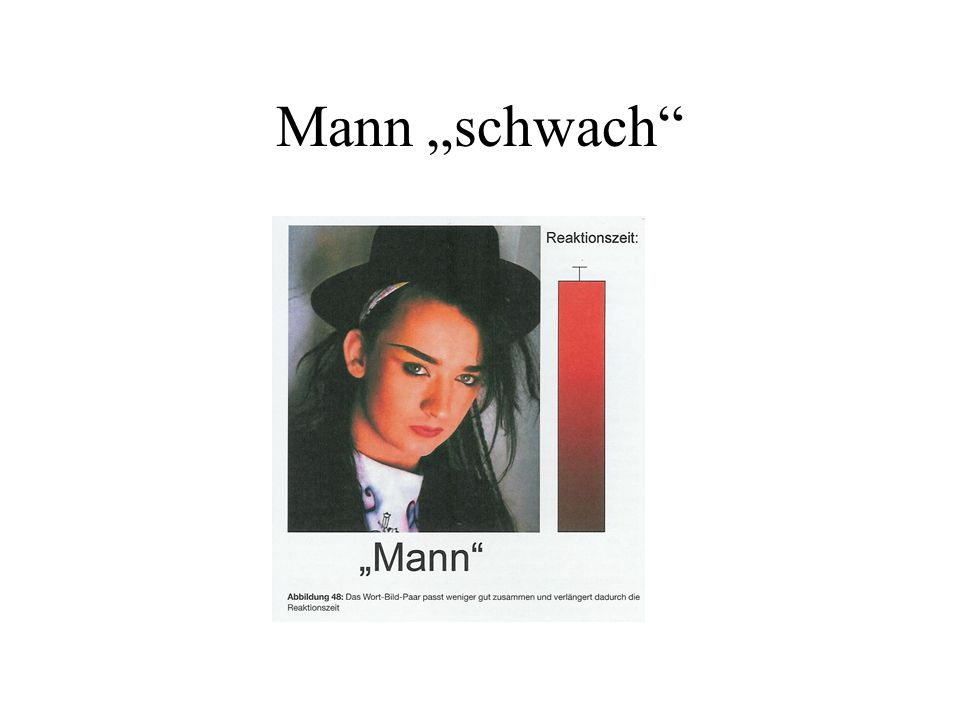 """Mann """"schwach"""