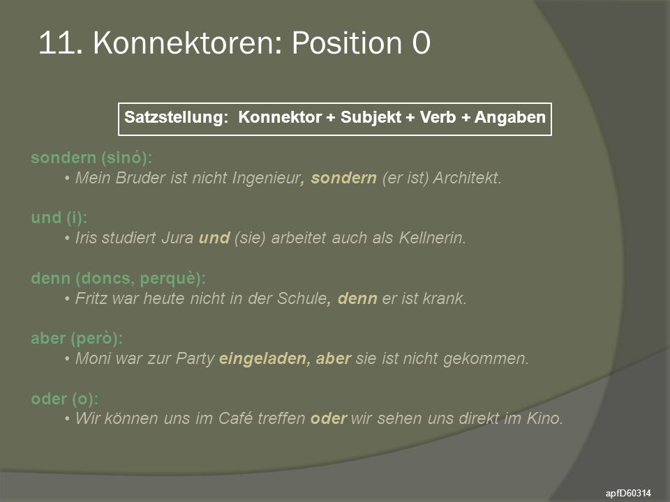 11. Konnektoren: Position 0
