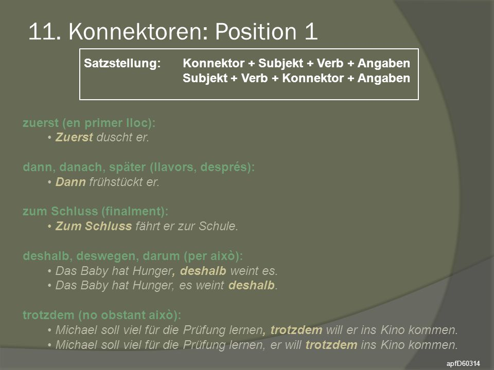 11. Konnektoren: Position 1