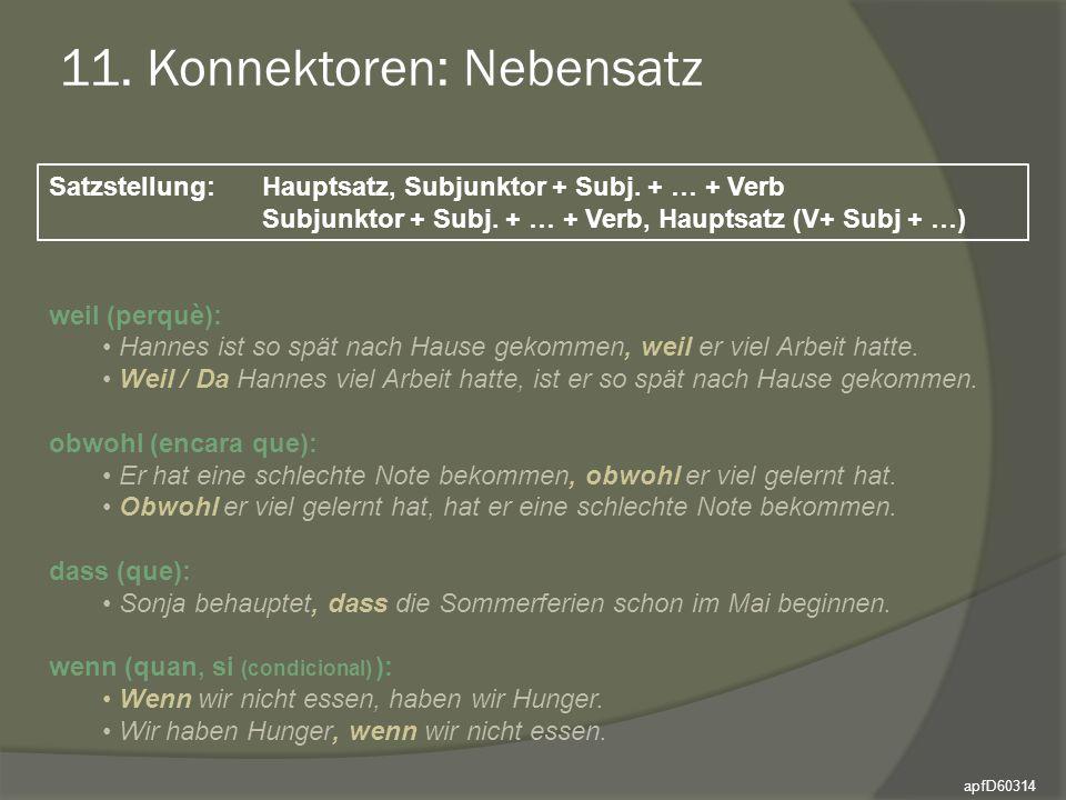 11. Konnektoren: Nebensatz