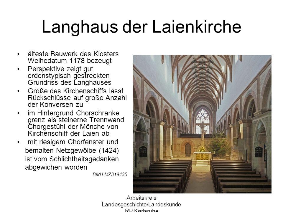 Langhaus der Laienkirche
