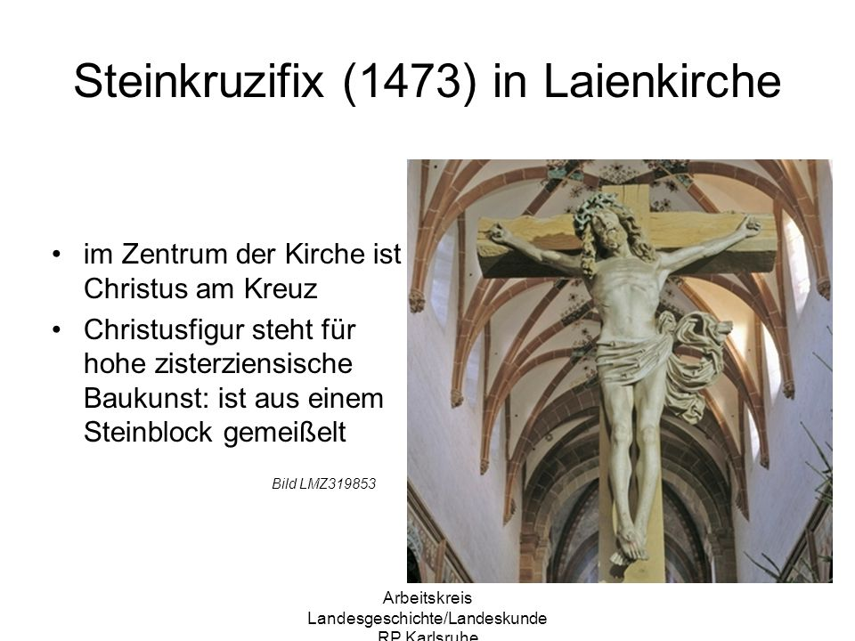 Steinkruzifix (1473) in Laienkirche