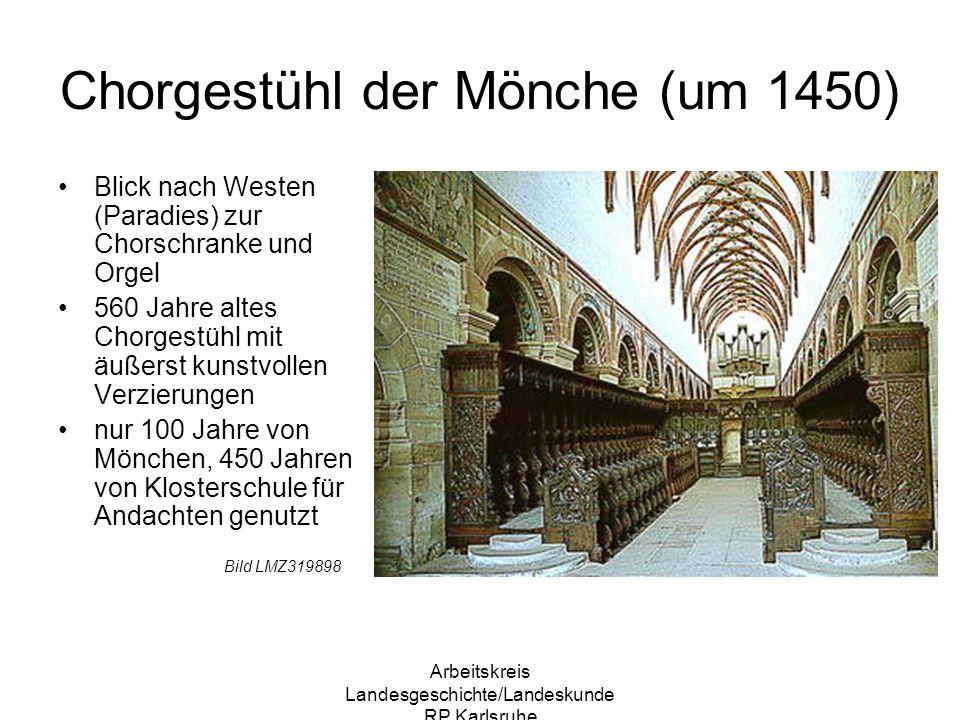 Chorgestühl der Mönche (um 1450)