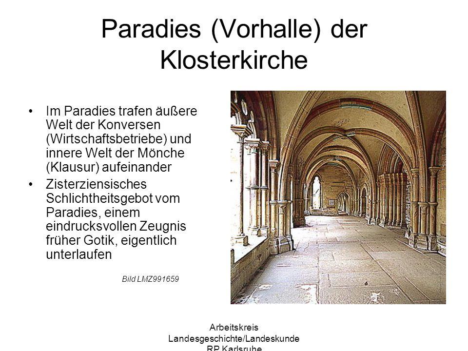 Paradies (Vorhalle) der Klosterkirche