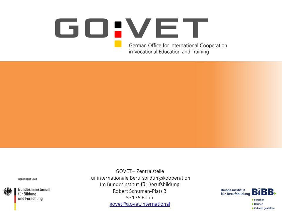 GOVET – Zentralstelle für internationale Berufsbildungskooperation