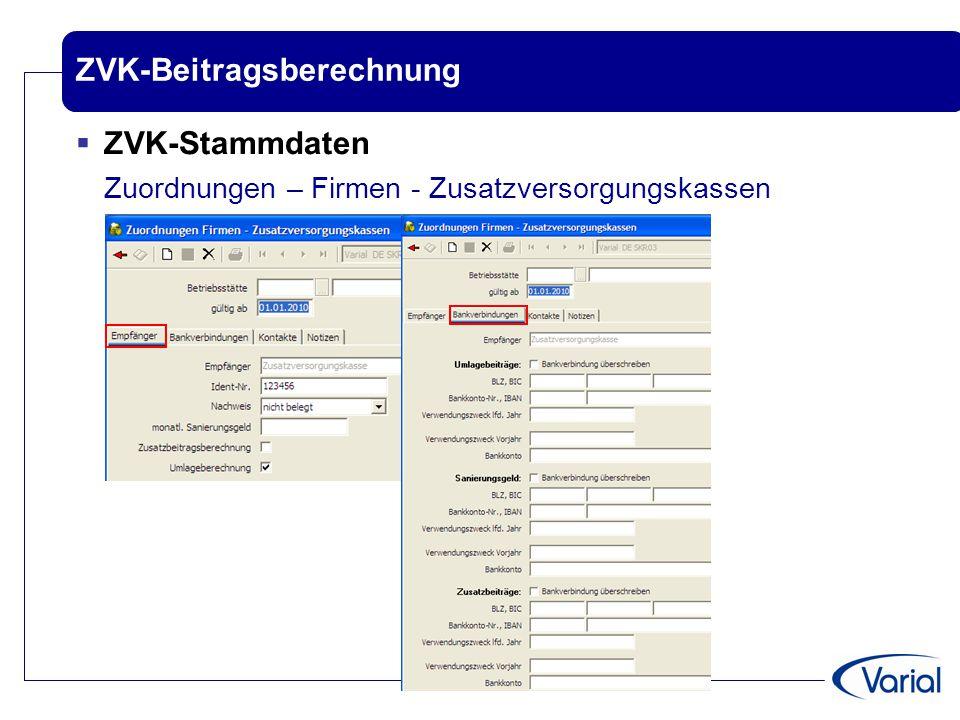 ZVK-Beitragsberechnung