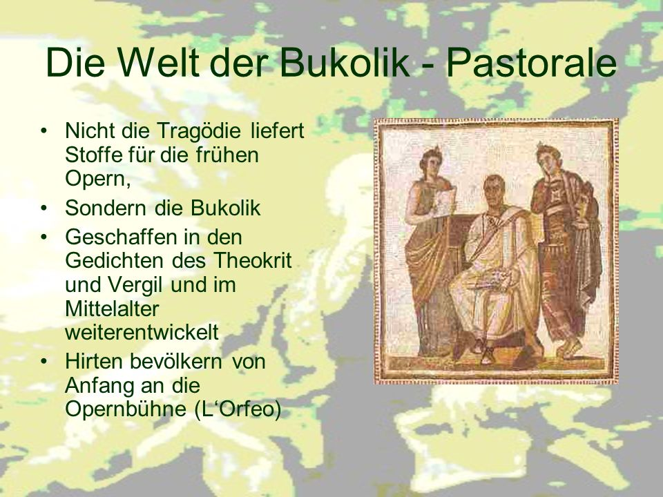 Die Welt der Bukolik - Pastorale