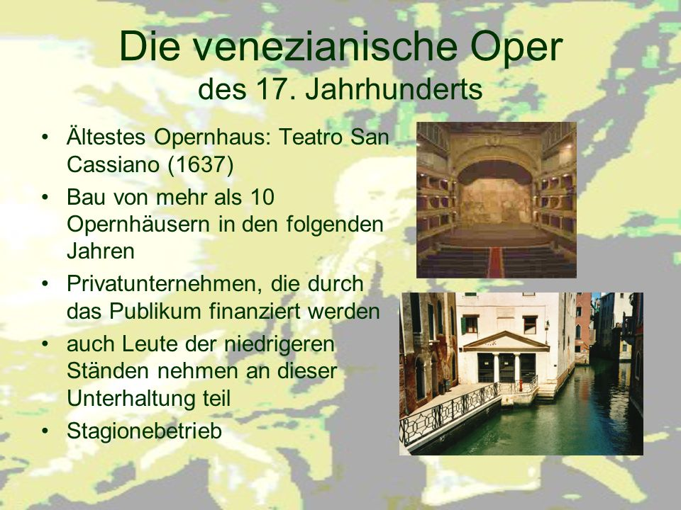 Die venezianische Oper des 17. Jahrhunderts