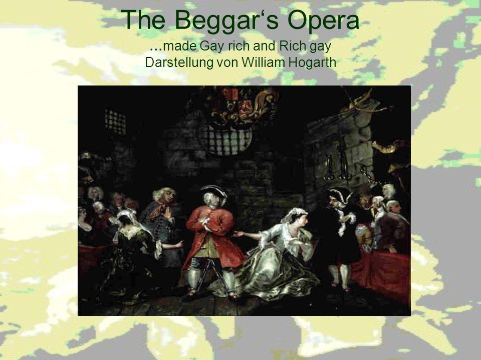 The Beggar's Opera ...made Gay rich and Rich gay Darstellung von William Hogarth