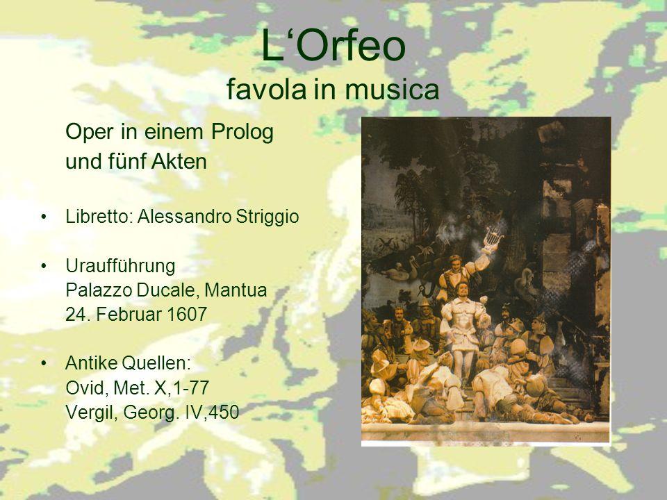L'Orfeo favola in musica