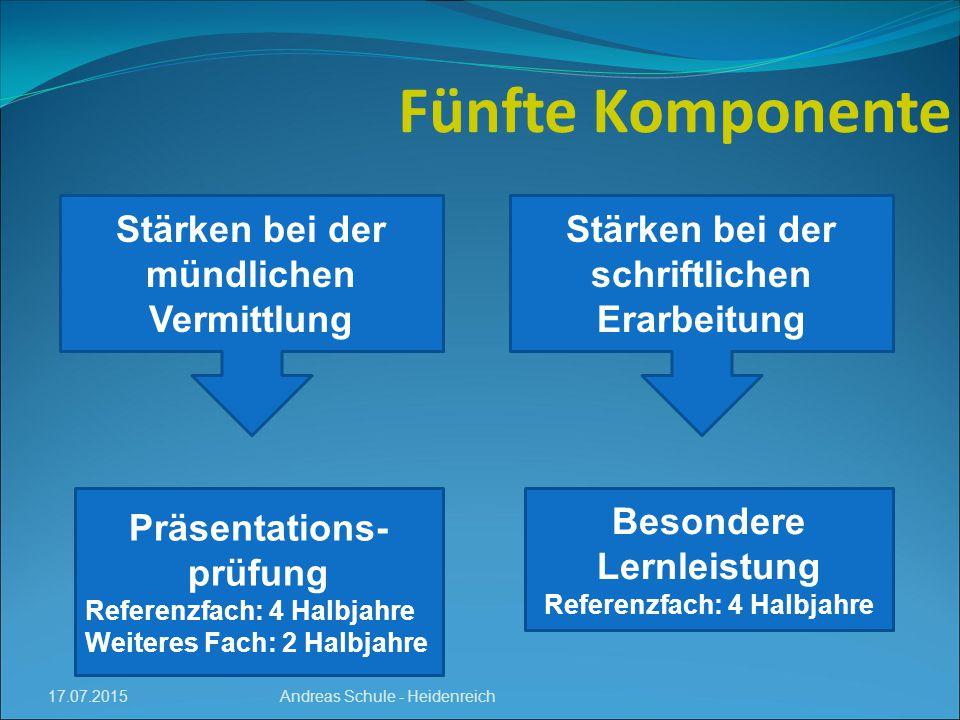 Fünfte Komponente Stärken bei der mündlichen Vermittlung