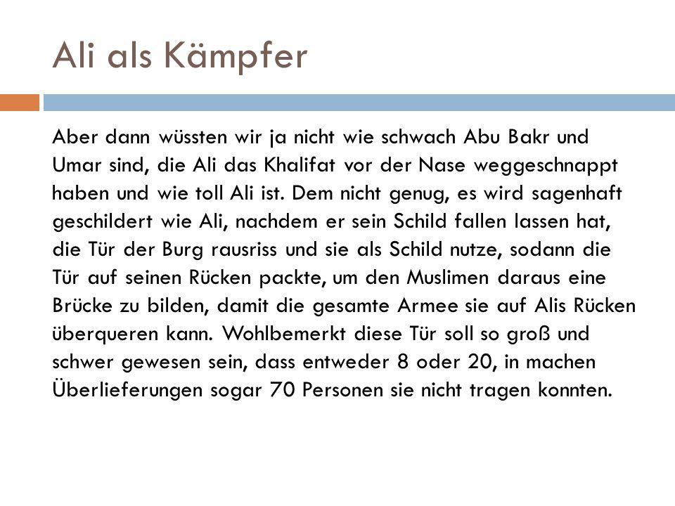 Ali als Kämpfer
