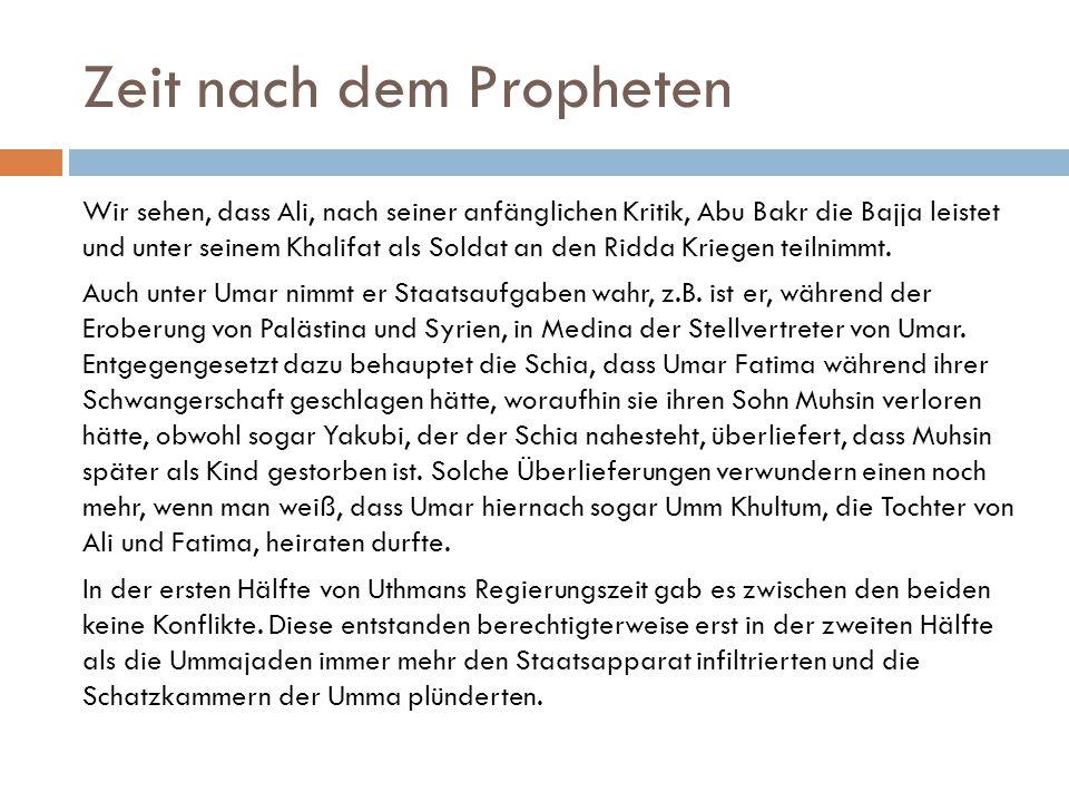 Zeit nach dem Propheten