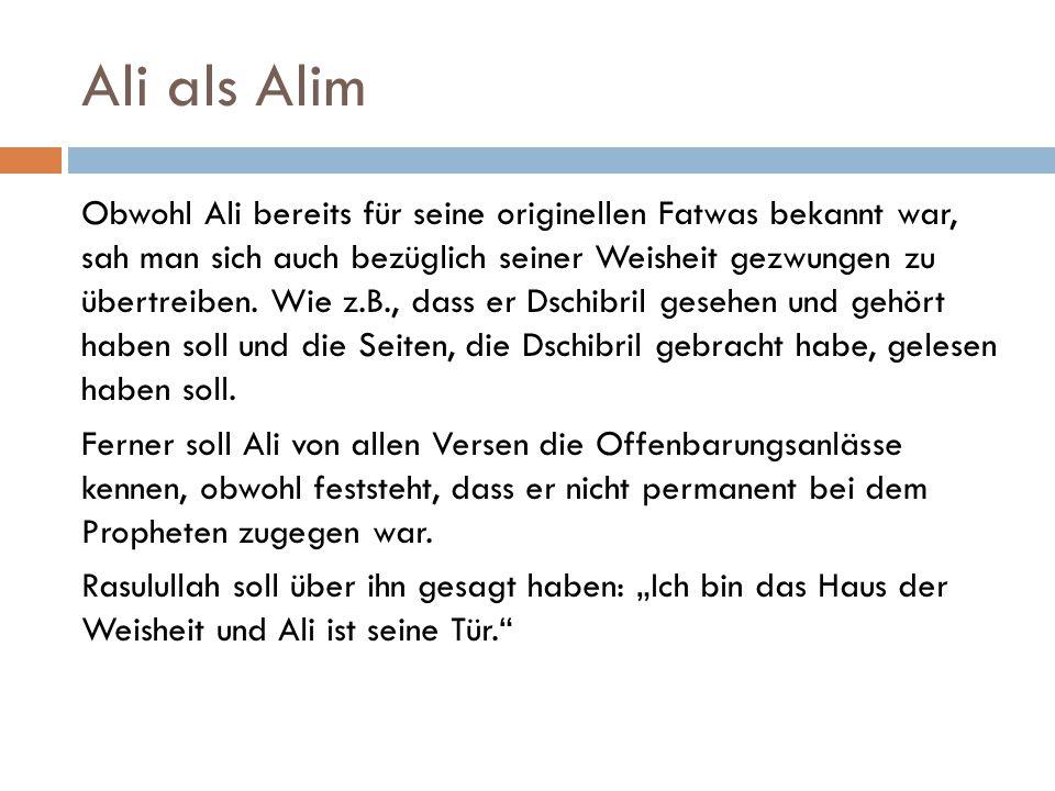 Ali als Alim
