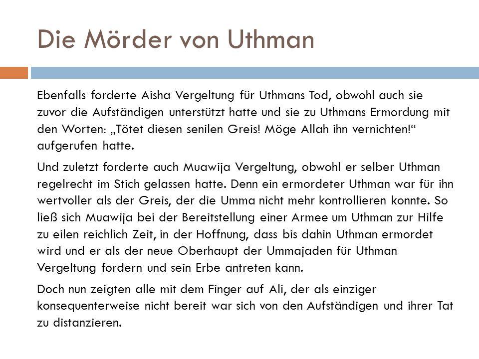 Die Mörder von Uthman