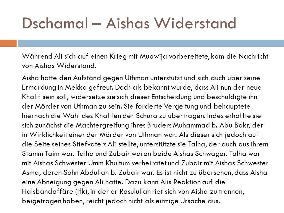 Dschamal – Aishas Widerstand