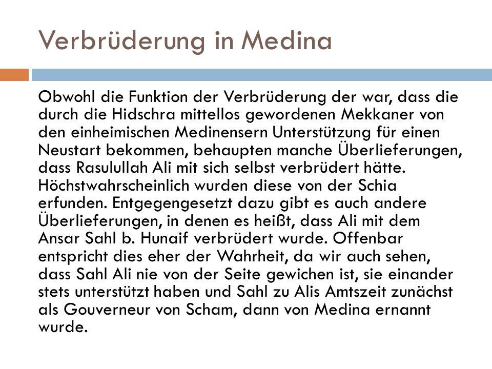 Verbrüderung in Medina