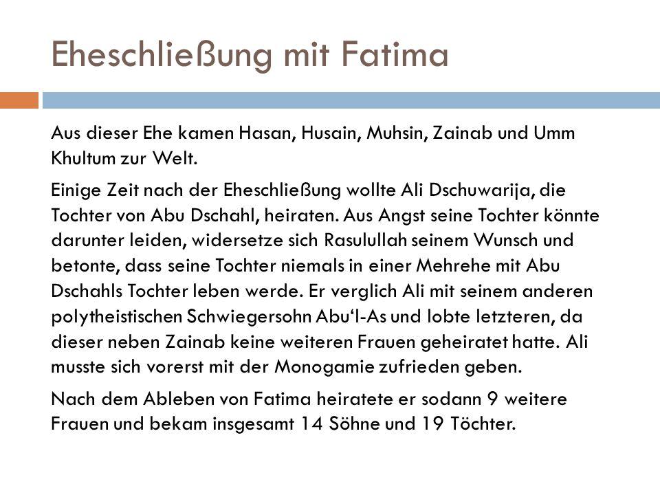 Eheschließung mit Fatima