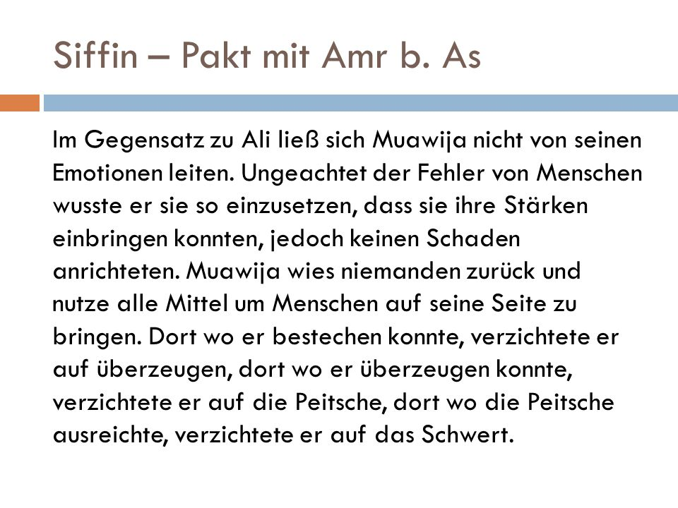 Siffin – Pakt mit Amr b. As