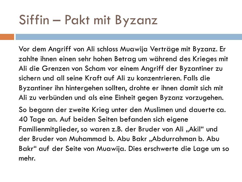 Siffin – Pakt mit Byzanz