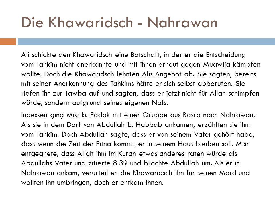 Die Khawaridsch - Nahrawan