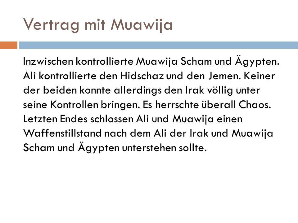 Vertrag mit Muawija