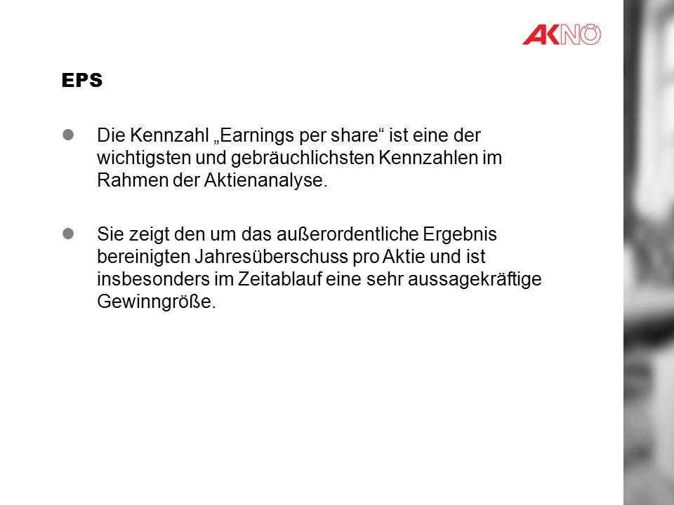 """EPS Die Kennzahl """"Earnings per share ist eine der wichtigsten und gebräuchlichsten Kennzahlen im Rahmen der Aktienanalyse."""