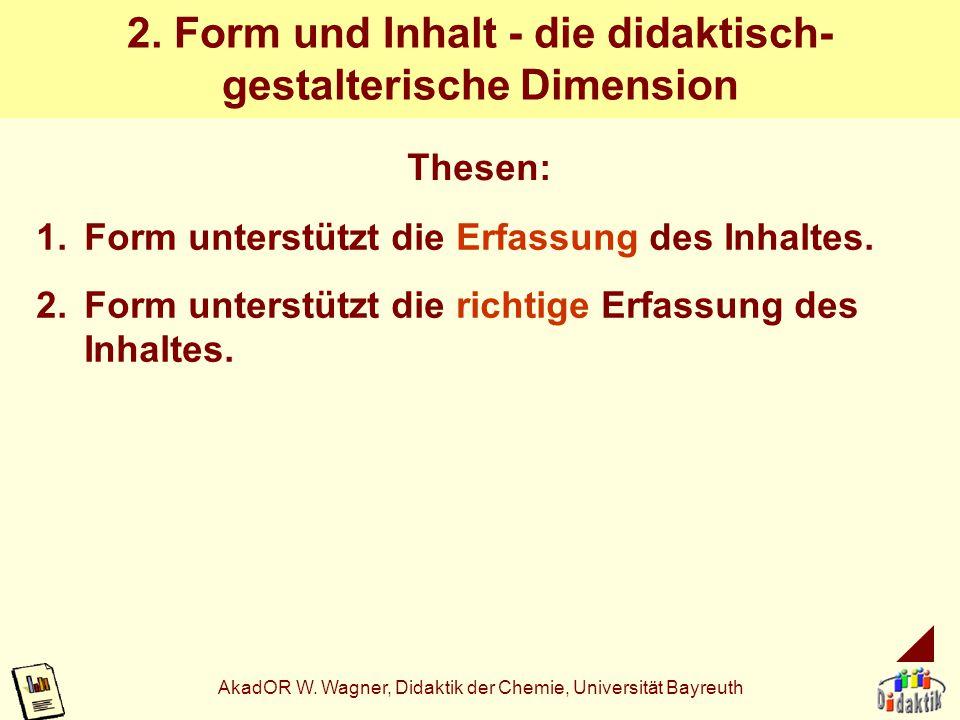 2. Form und Inhalt - die didaktisch-gestalterische Dimension
