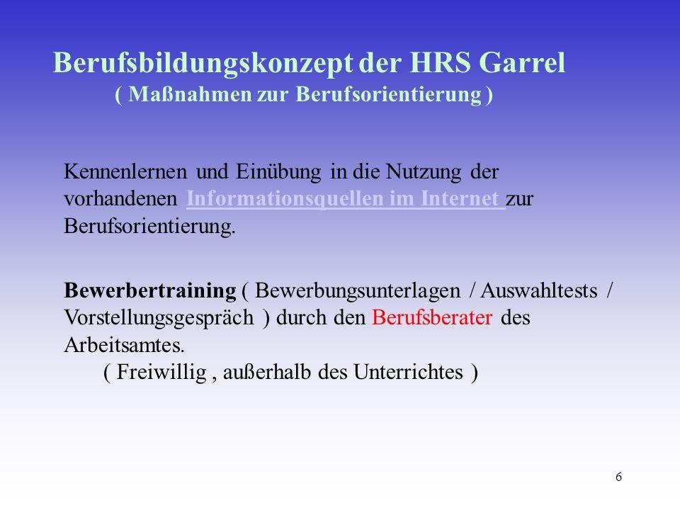 Berufsbildungskonzept der HRS Garrel
