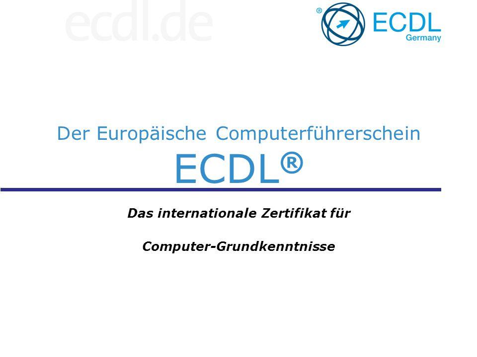 Der Europäische Computerführerschein ECDL®