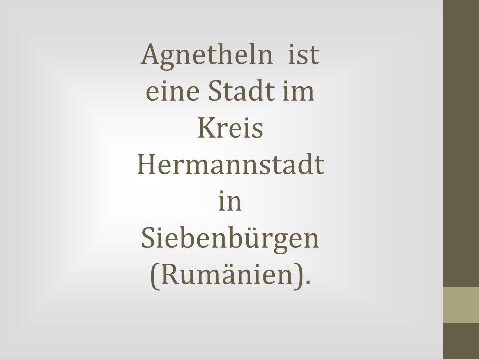 Agnetheln ist eine Stadt im Kreis Hermannstadt in Siebenbürgen (Rumänien).