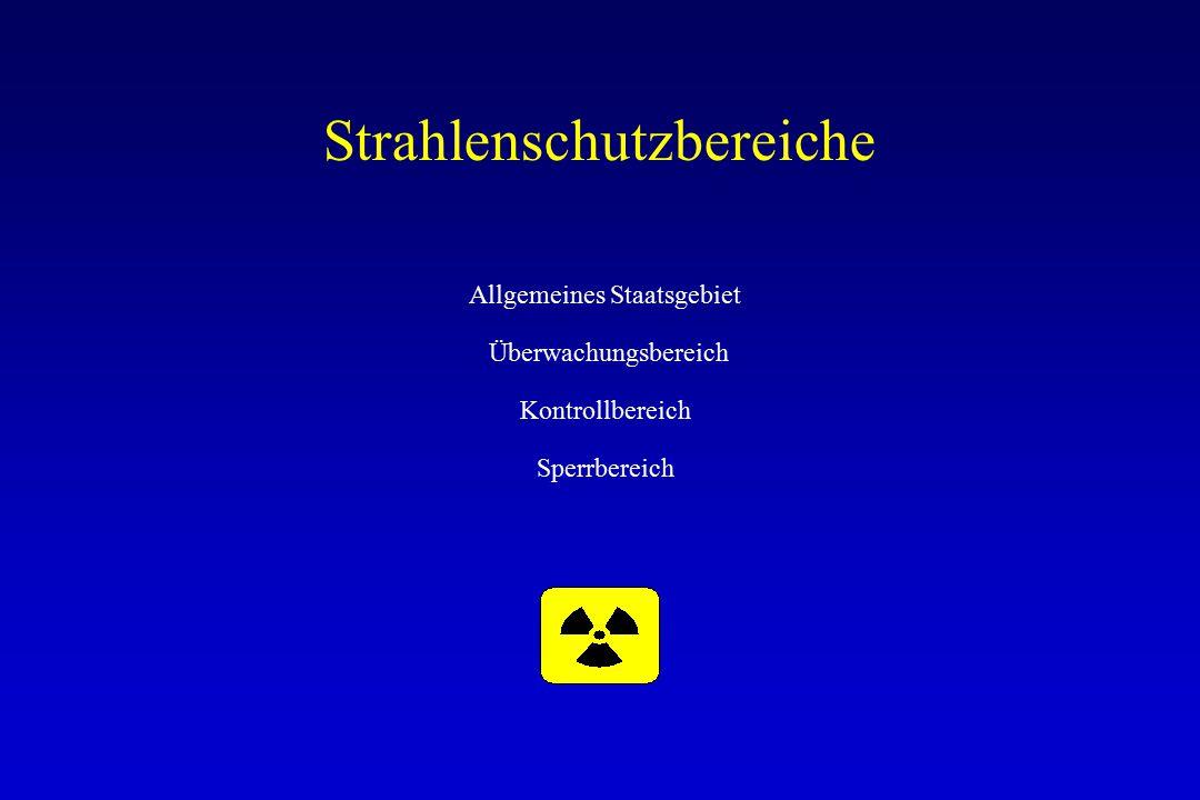 Strahlenschutzbereiche