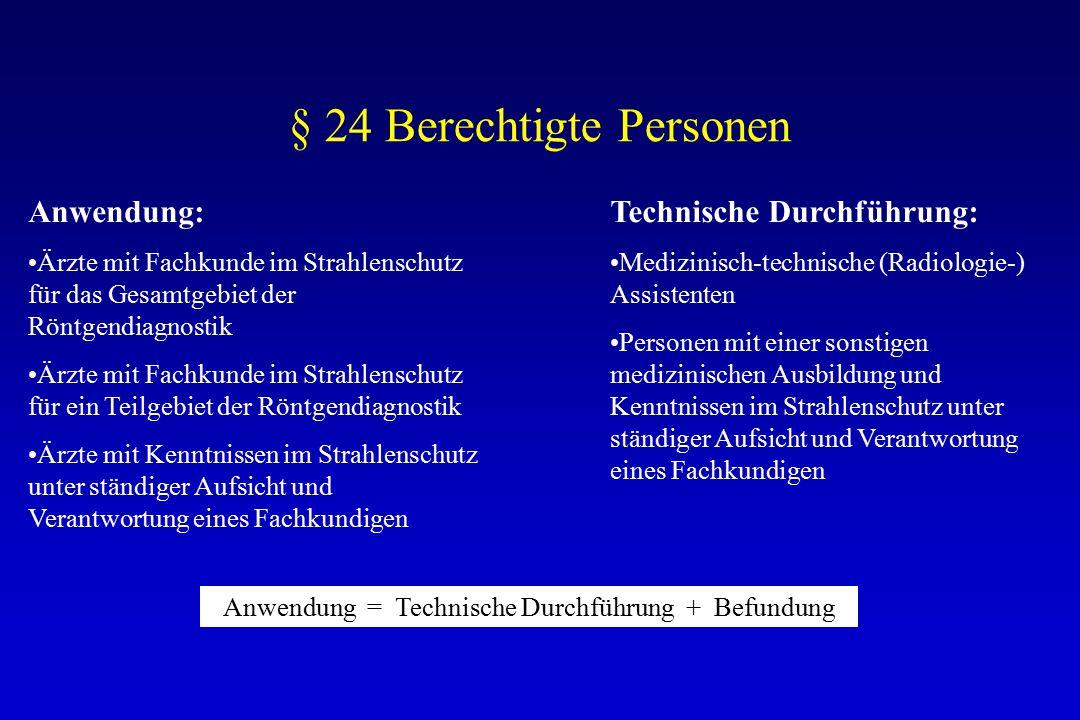 § 24 Berechtigte Personen
