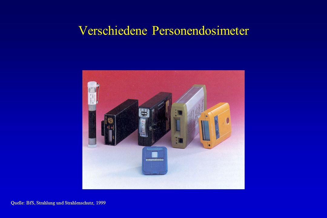 Verschiedene Personendosimeter
