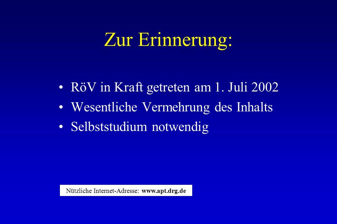 Nützliche Internet-Adresse: www.apt.drg.de