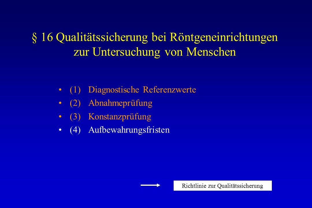 Richtlinie zur Qualitätssicherung