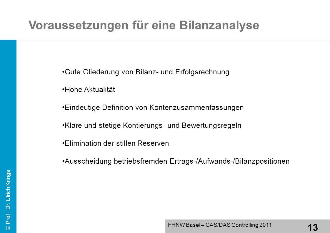 Voraussetzungen für eine Bilanzanalyse