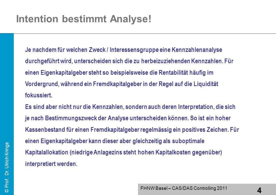 Intention bestimmt Analyse!